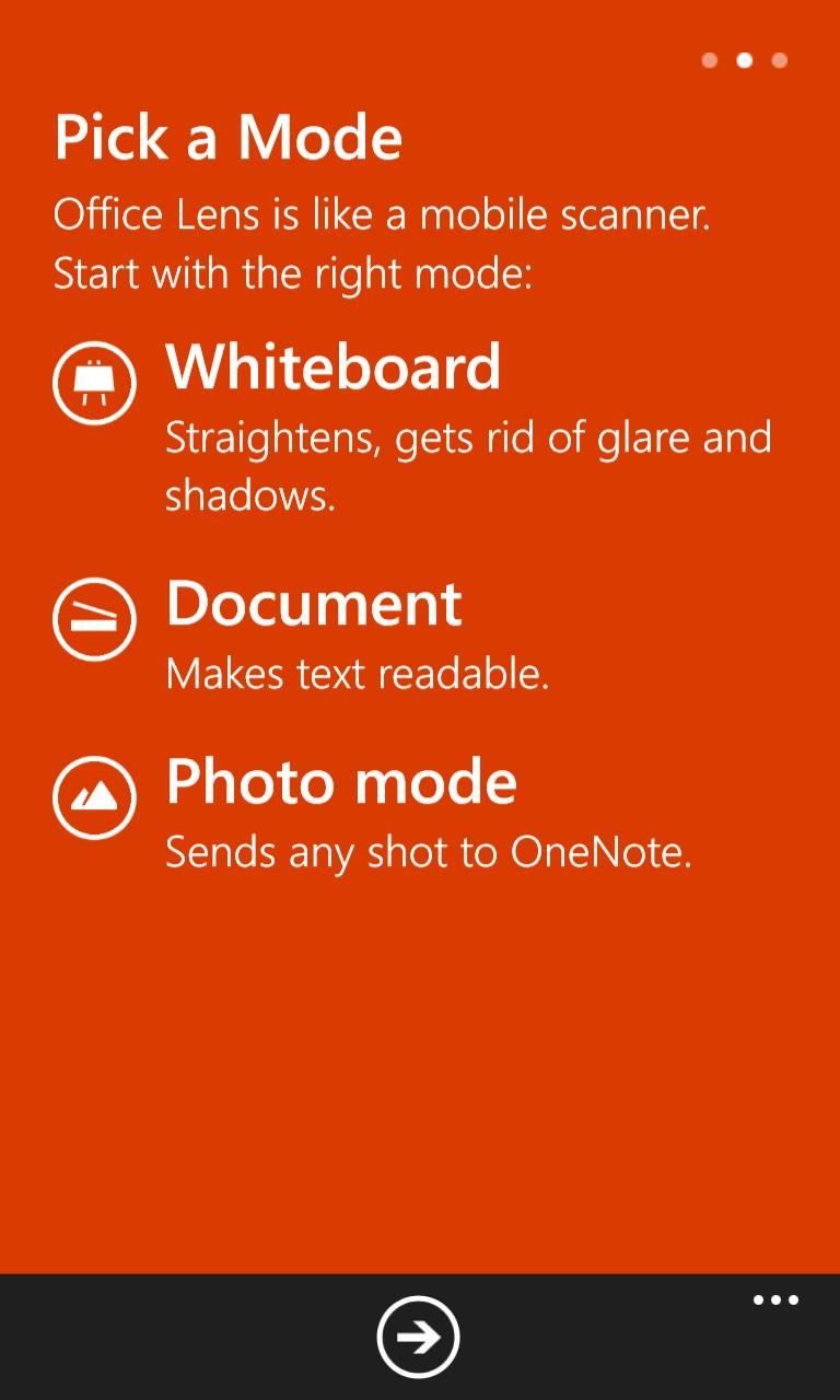 Screenshot, Office Lens