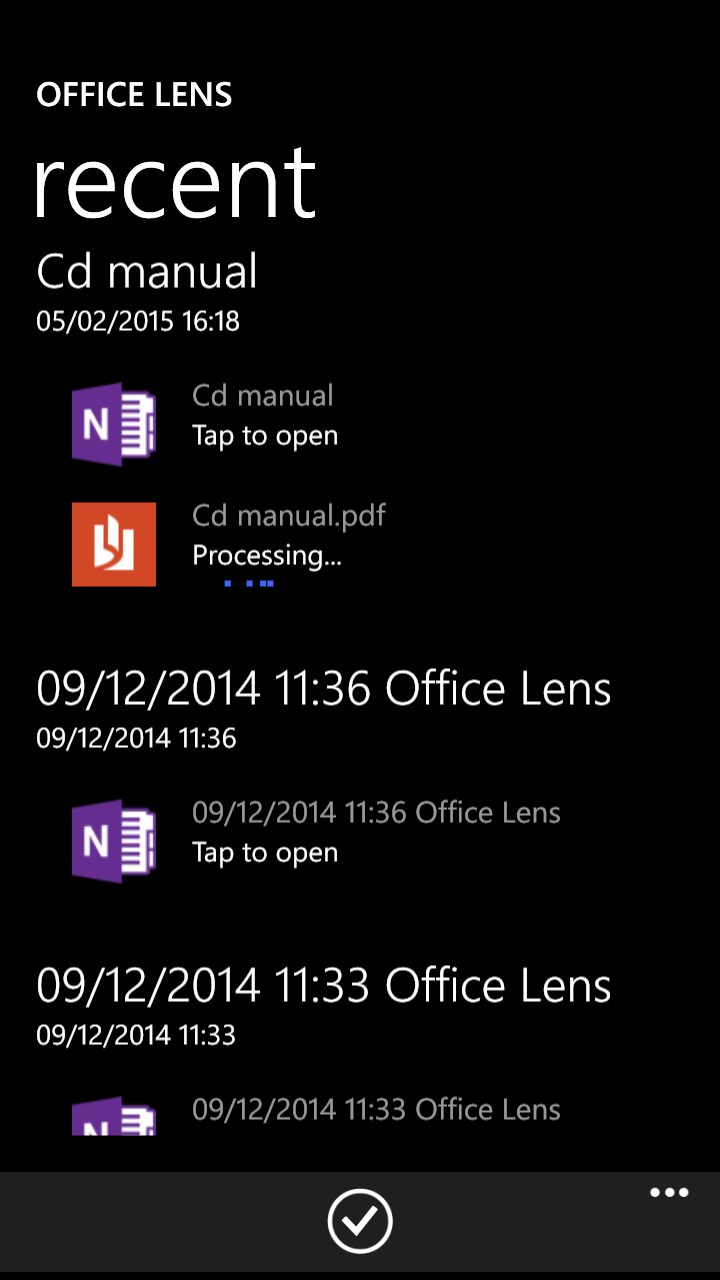 Office Lens saving to PDF