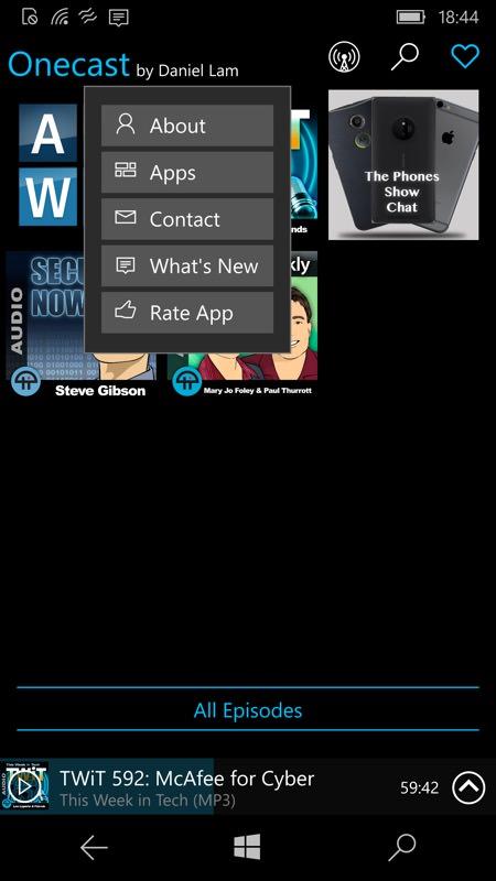 Screenshot, OneCast