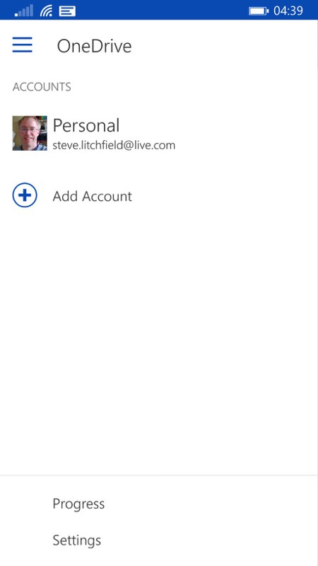 Screenshot, OneDrive