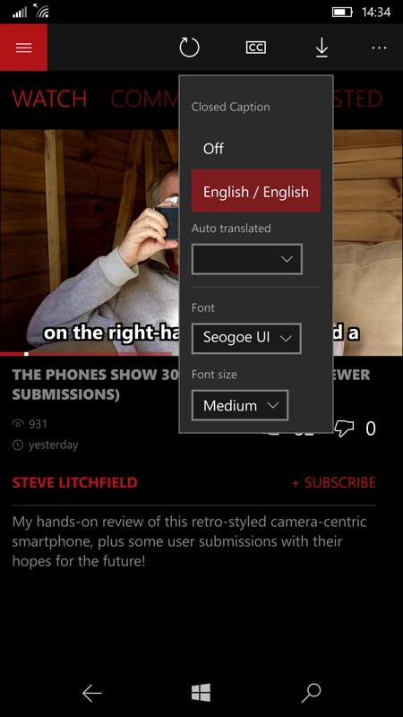 Screenshot, PerfectTube