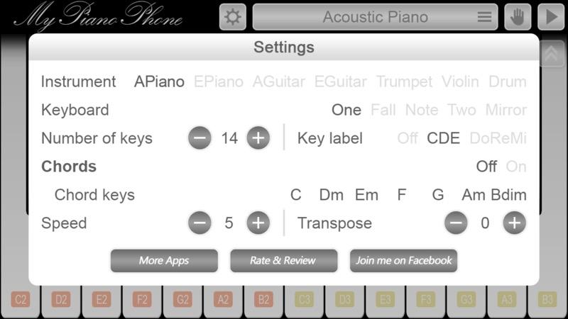 Screenshot, My Piano Phone