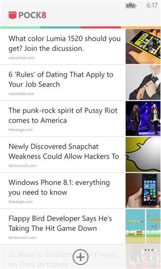 Pock8 screenshot