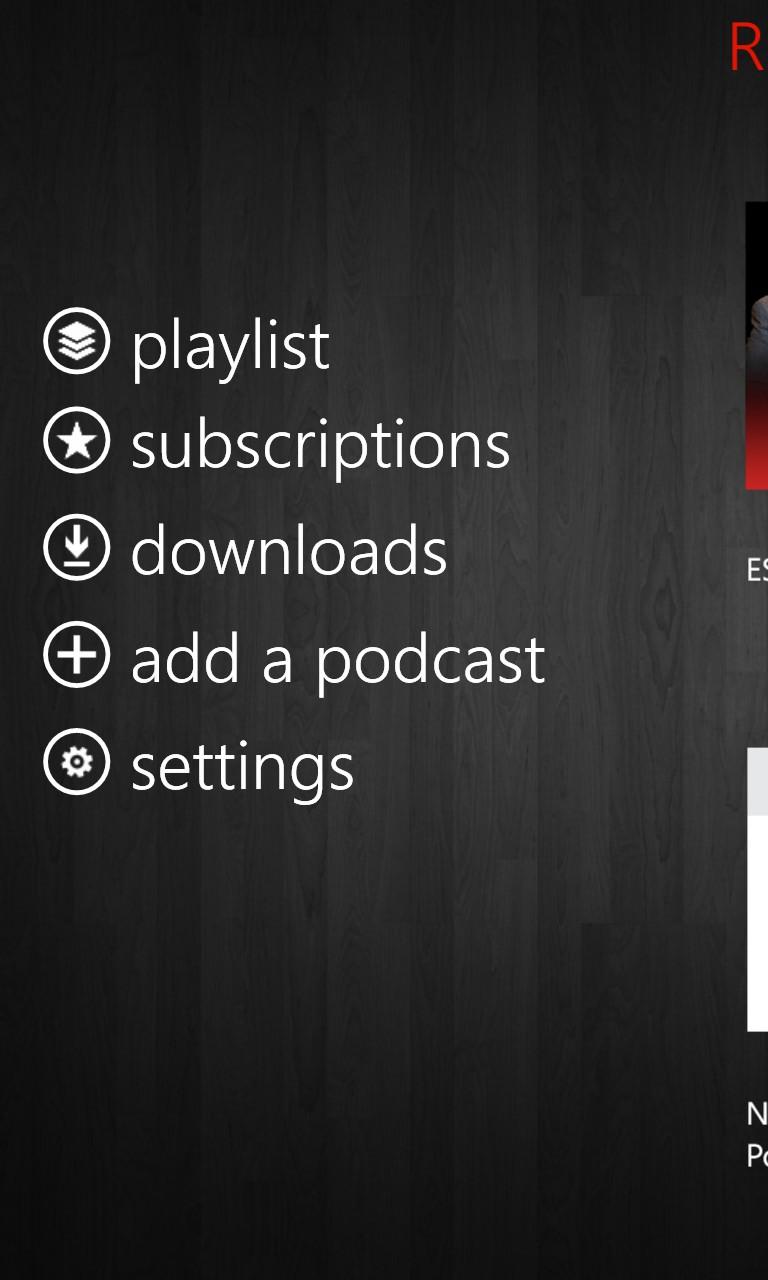 Screenshot, Podcast Bandit