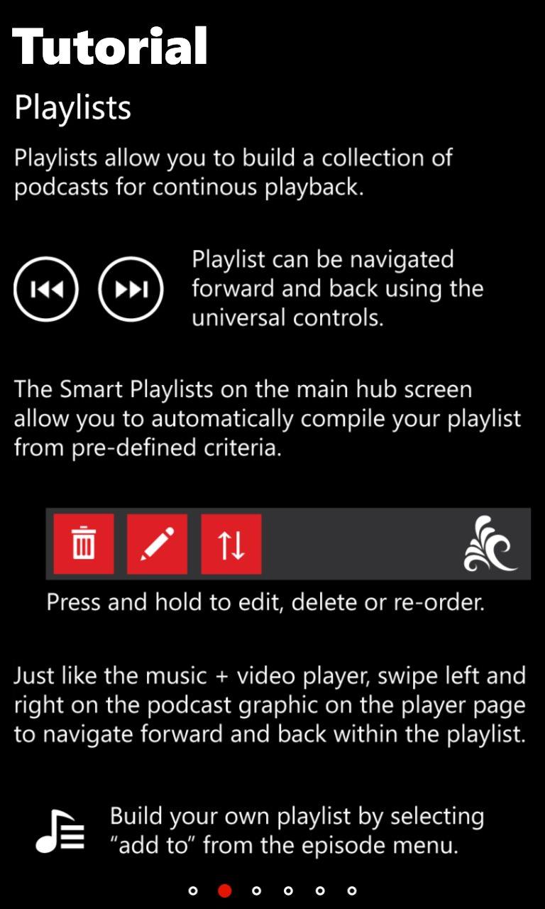 Screenshot, Podcast Lounge 2.0