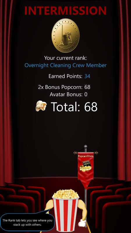 Screenshot, Popcorn Trivia