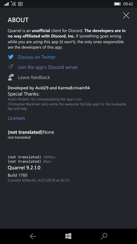 Quarrel UWP brings Discord to Windows 10 Mobile