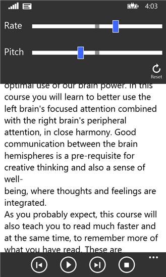 Screenshot, ReadAloud