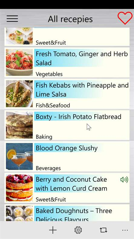 Screenshot, Speaking recipes +