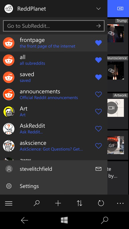Screenshot, ReddPlanet Reddit