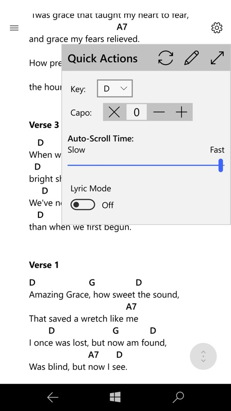 Screenshot, SongbookPro