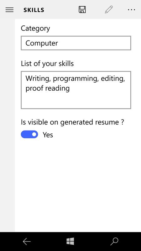 Screenshot, ShapeResume