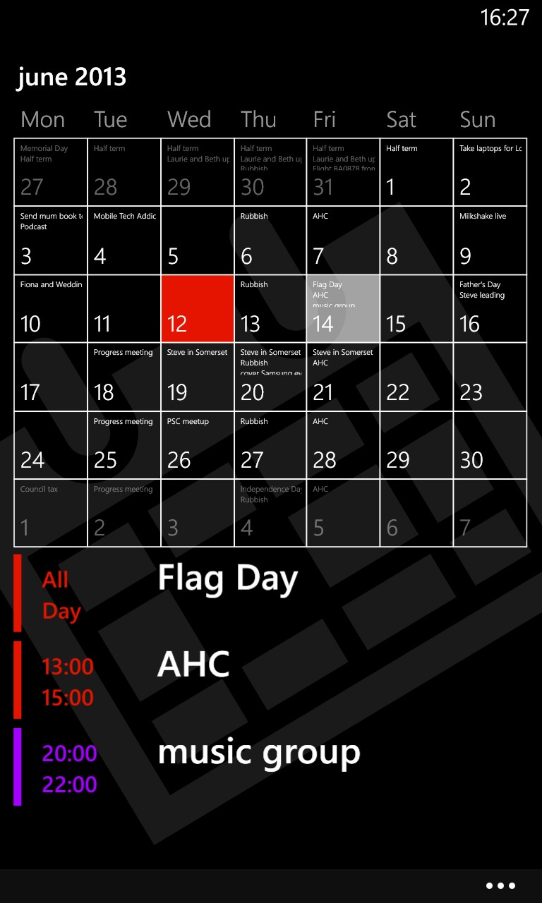 Screenshot, Simple Calendar