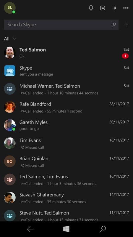 Screenshot, Skype