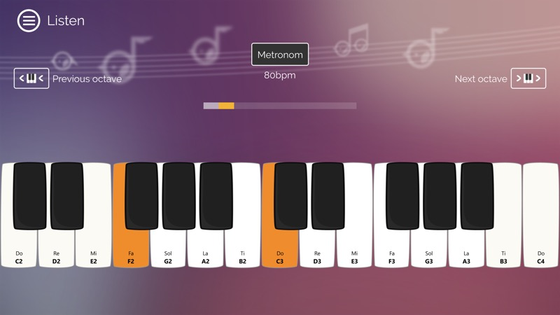 Screenshot, Solfege+