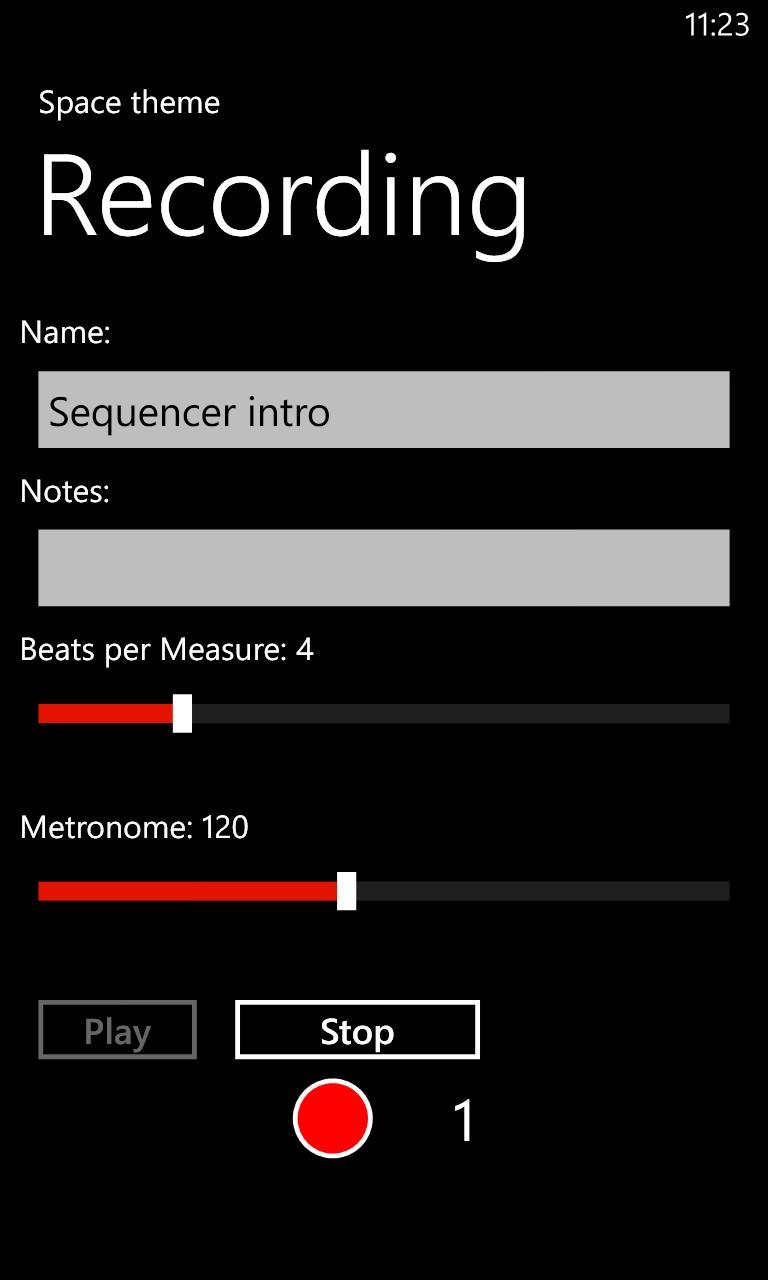 Screenshot, Song Prototyper