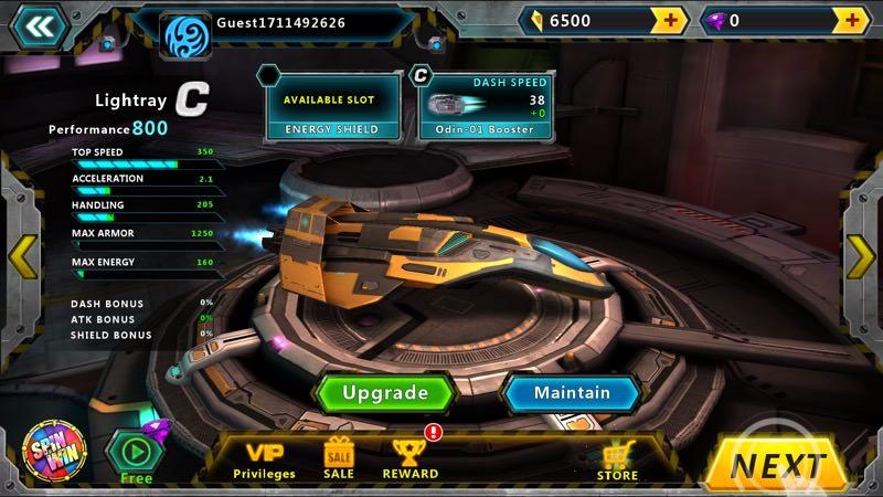 Screenshot, Space Racing 2 UWP