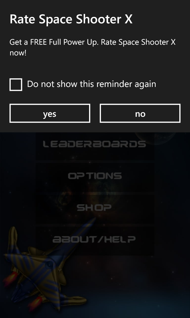 Screenshot, Space Shooter X