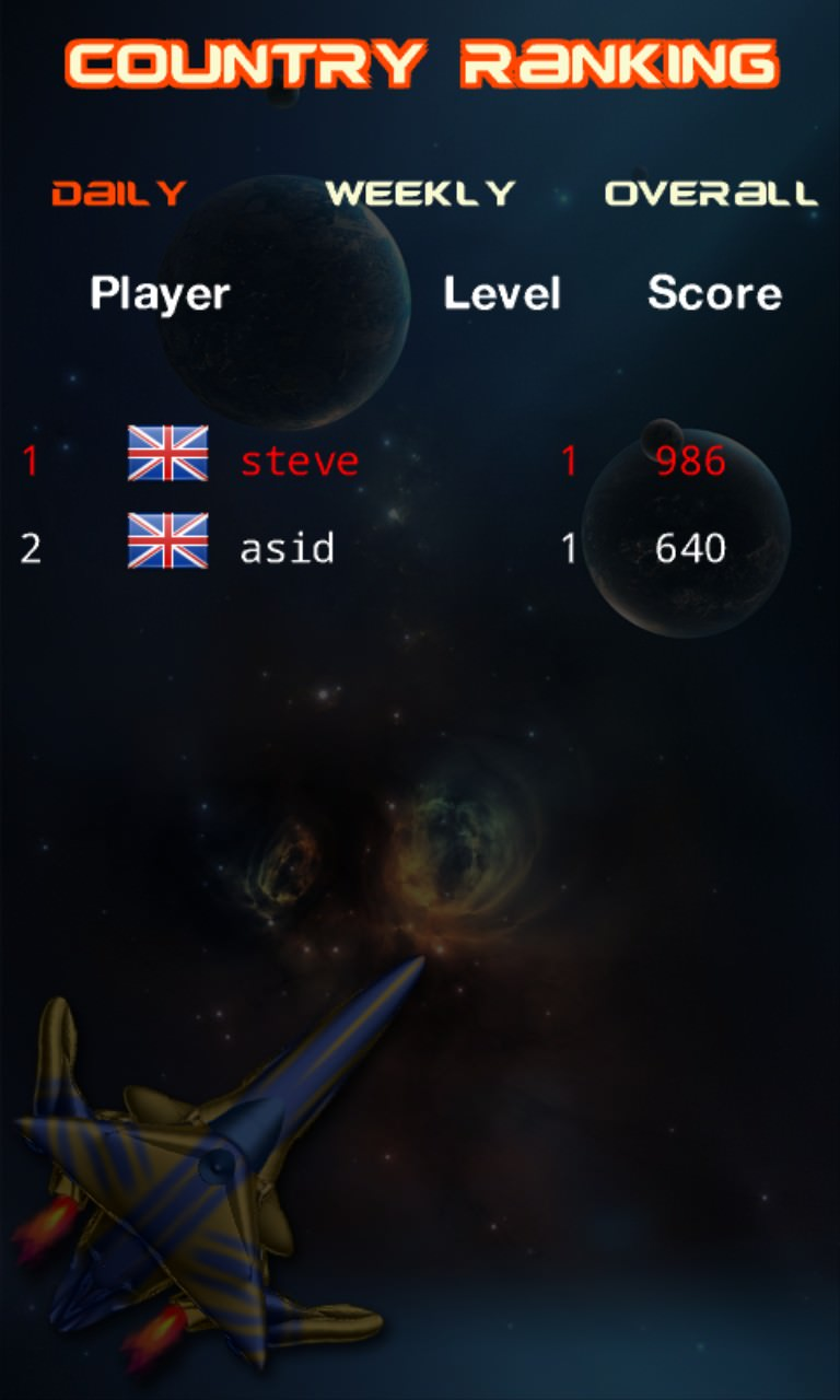 Screenshot, Space Shooter X