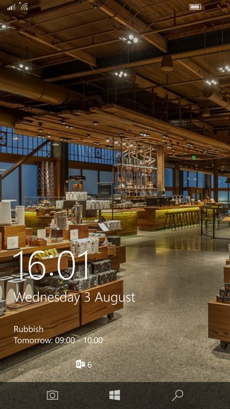 Screenshot, Starbucks UWP