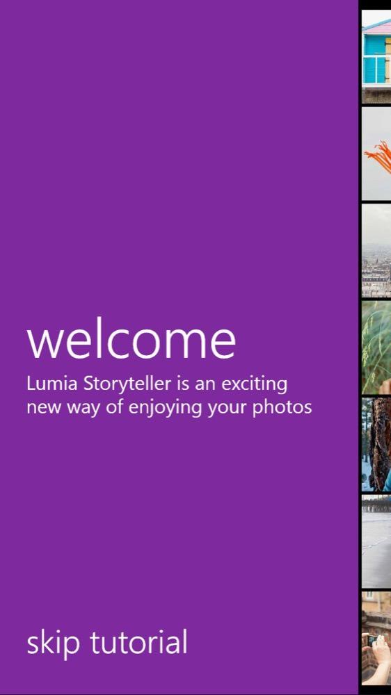 Lumia Storyteller screenshot, 2015 updates