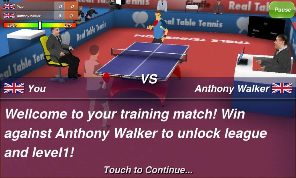 Screenshot, Table Tennis 3D