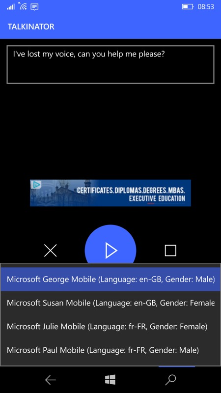Talkinator screenshot