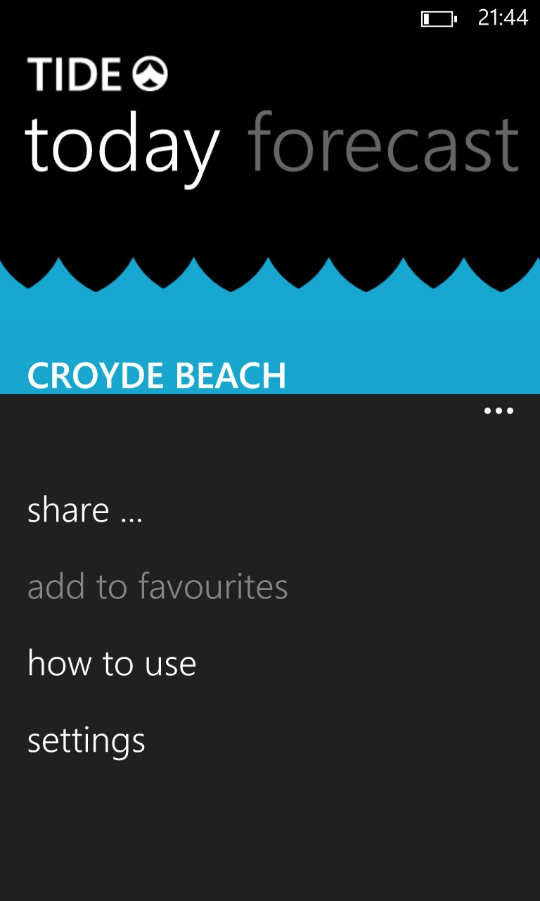 Tide screenshot