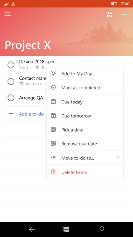 Screenshot, To-Do