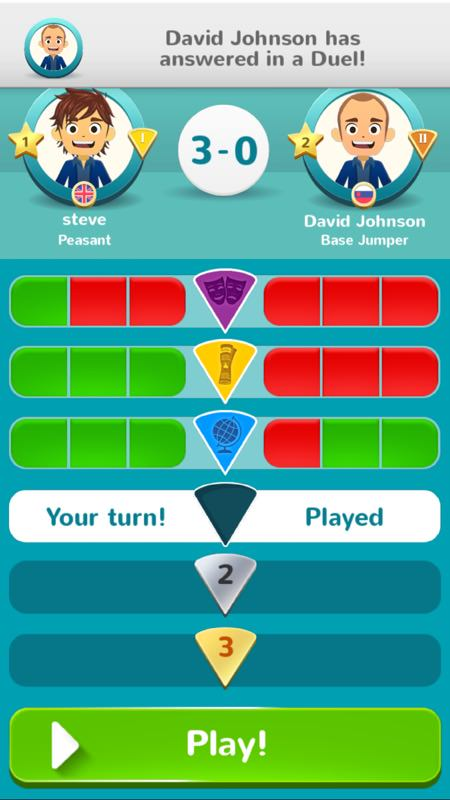 Screenshot, Trivial Pursuit
