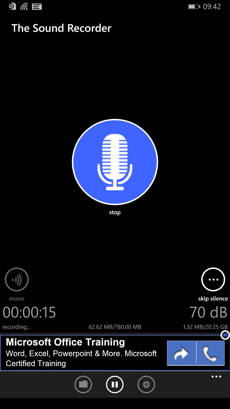 The Sound Recorder screenshot