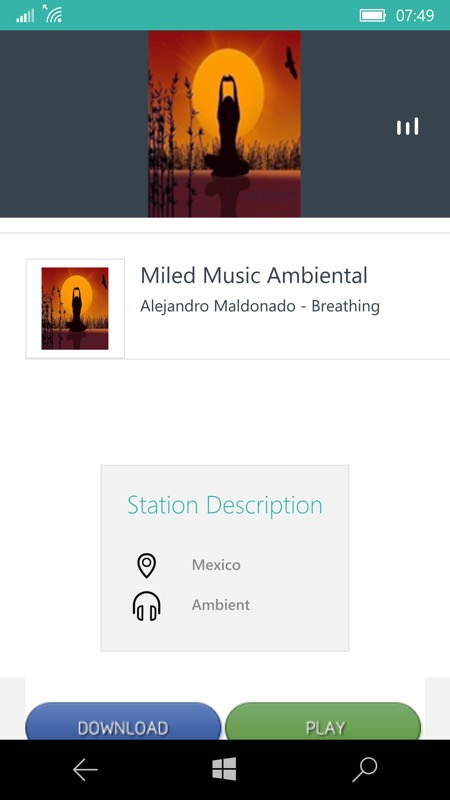 Screenshot, TuneIn Radio