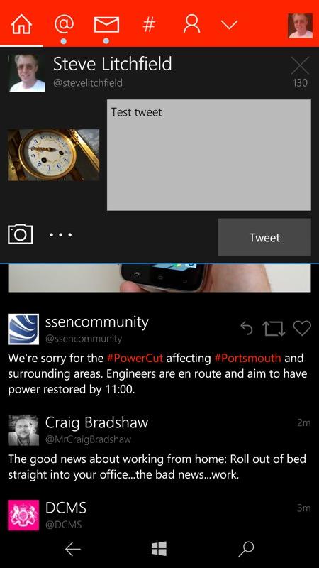 Screenshot, Tweetium