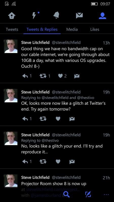 Screenshot, Twitter UWP