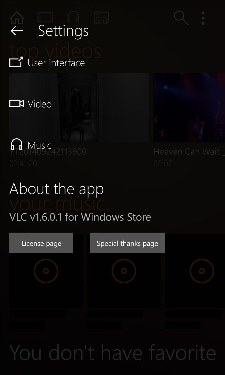 VLC for WP Beta screenshot