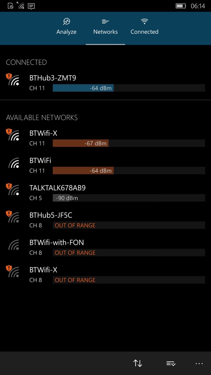 Screenshot, wifi Analyzer