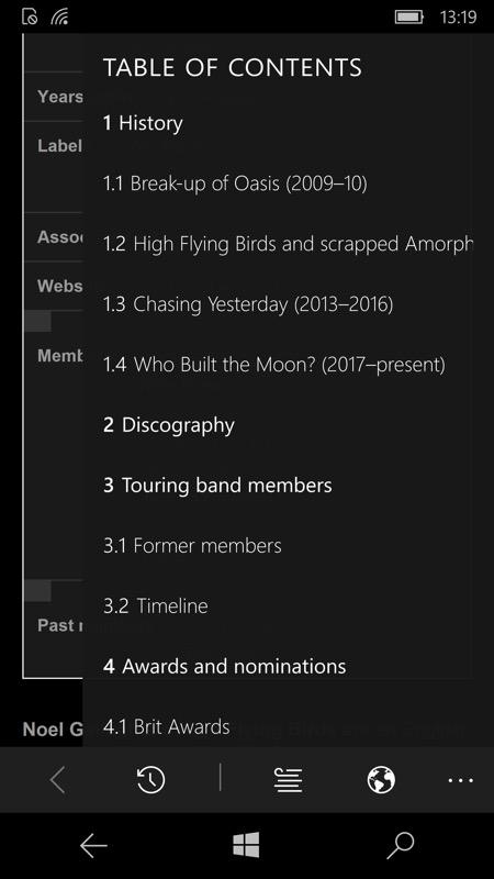 Screenshot, Wikini for Wikipedia