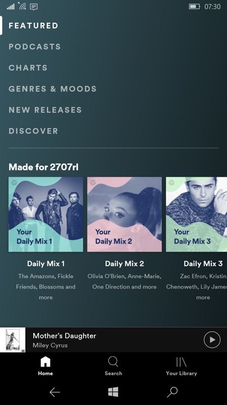 Spotify WPW screenshot
