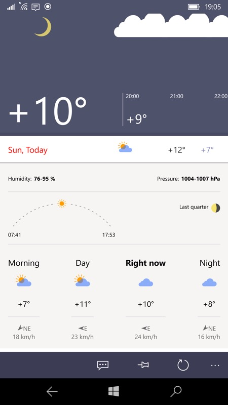 Yandex.Weather screenshot
