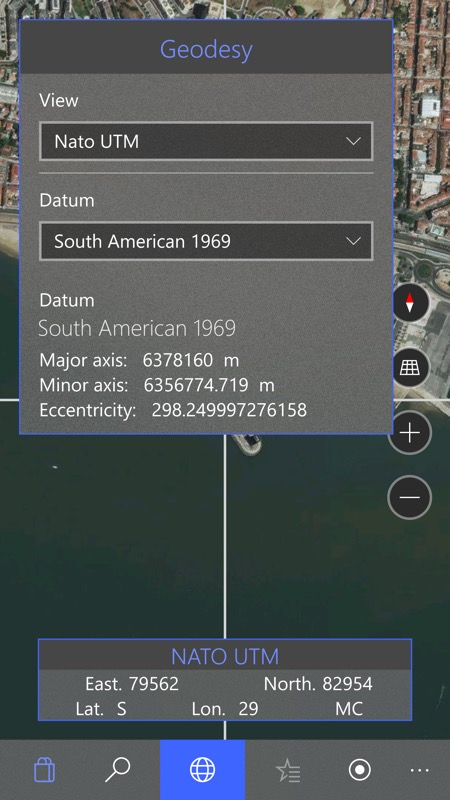Screenshot, Zenit - Latitude, Longitude, UTM, MGRS, WGRS and QTH Converter UWP