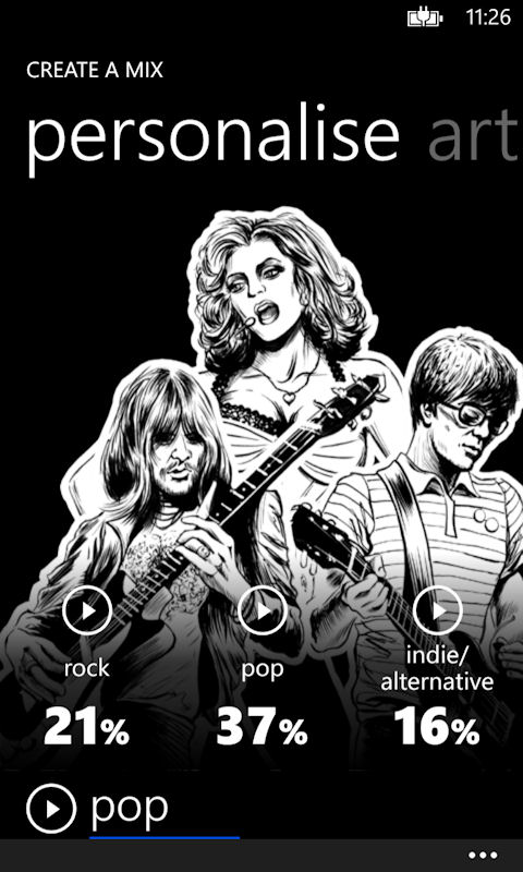 Nokia Music Screenshot