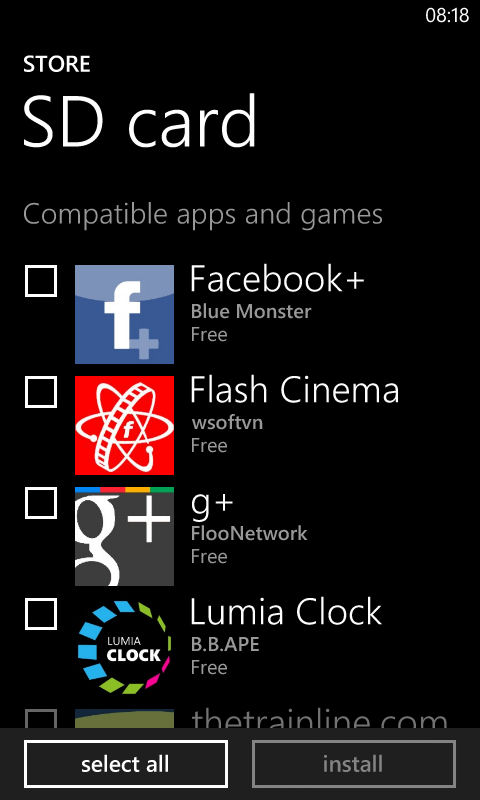 Side load apps and games ( xap) via SD card on Windows Phone 8