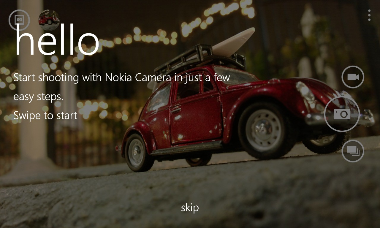 Screenshot, Nokia Camera