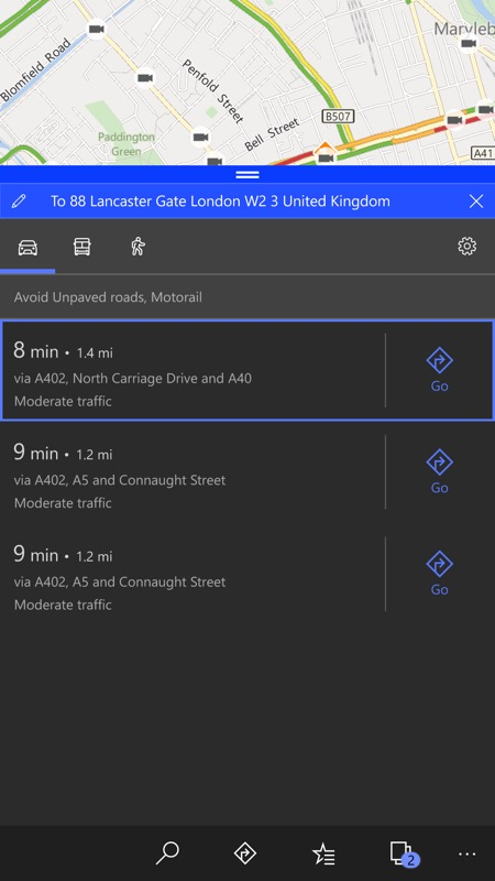 Screenshot, W10 Maps issue