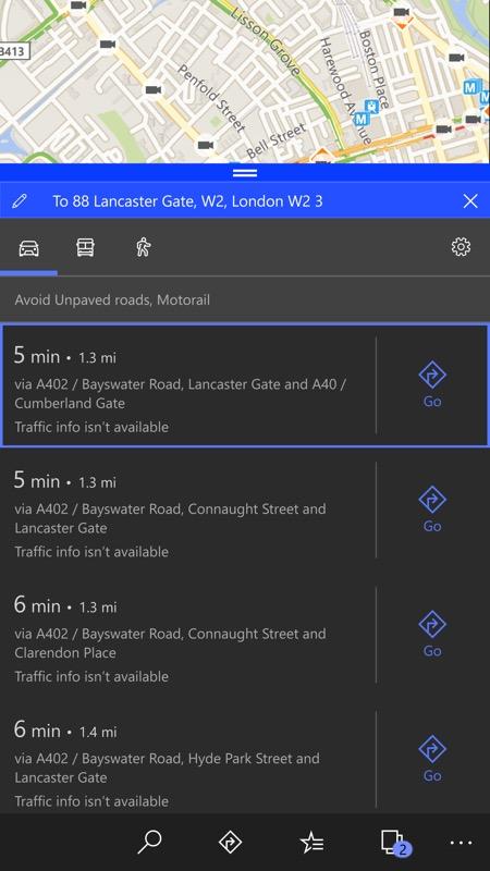 Screenshot, W10 Maps issue