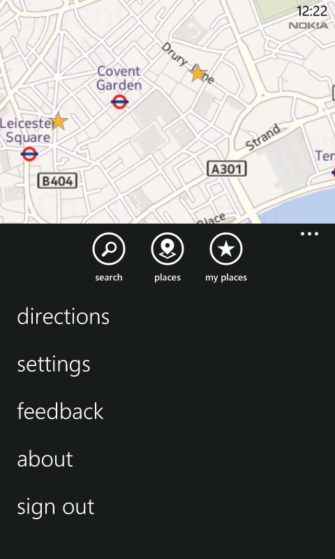 Nokia Maps screenshot