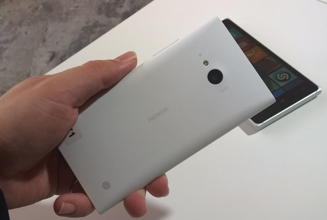 Lumia 730 from the rear