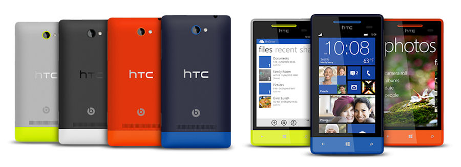 HTC 8S cpolours