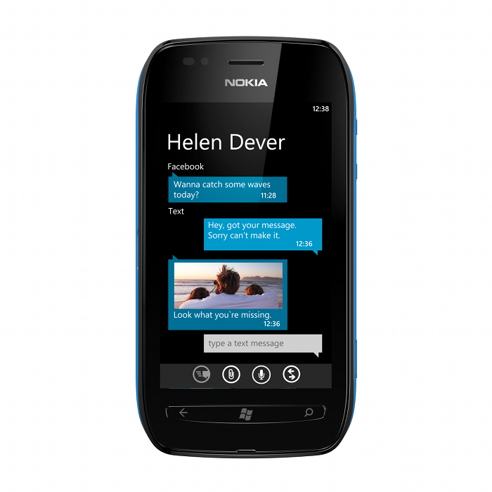 Nokia 701 Windows Phone device