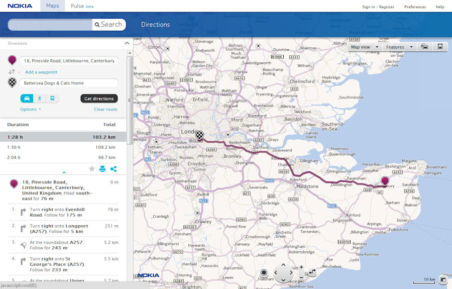 Nokia Maps in Browser